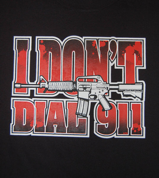 I Don't Dial 911 (men) - gunnytees