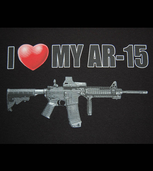 I Love My AR-15 (men) - gunnytees