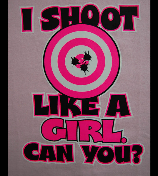 Shoot Like Girl V2 (women) - gunnytees