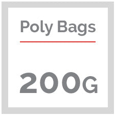 200 Gauge Clear Poly Bags