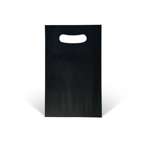 Black Die-cut Handle Paper Bags - Robins Packaging