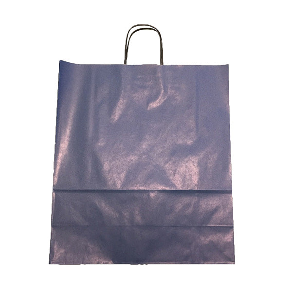 Blue Twist Handle Paper Bags 40x16x45cm Clearance *Special Offer*