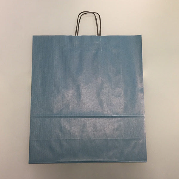 Blue Twist Handle Paper Bags 40x16x45cm *Special Offer*