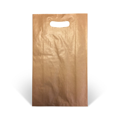 Brown Kraft Die-cut Handle Paper Bags - Robins Packaging