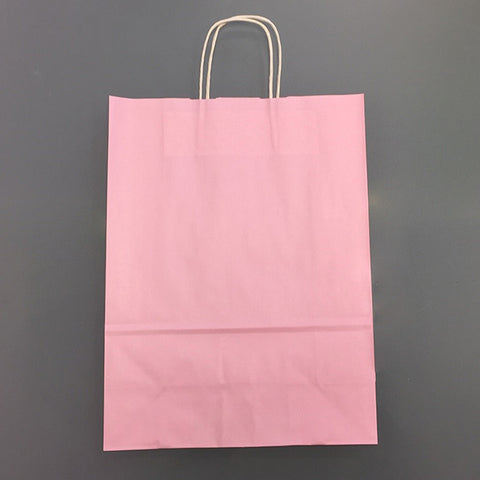 Pink Twist Handle Paper Bags 32x14x42cm *Special Offer* - Robins Packaging