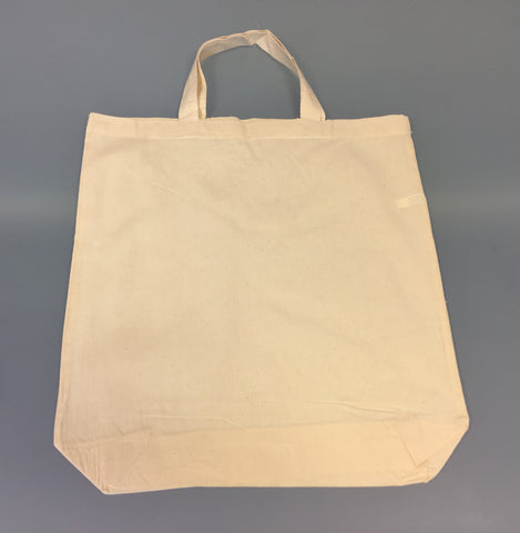 Natural Cotton Bags 38x43cm Short Handles *Special Offer*