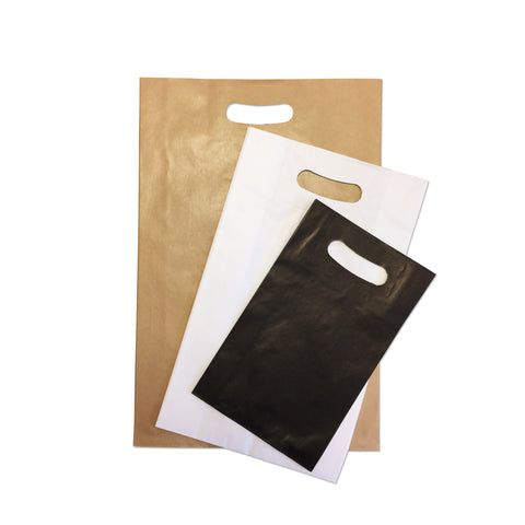 Printed Die-cut Handle Paper Carrier Bags - Robins Packaging