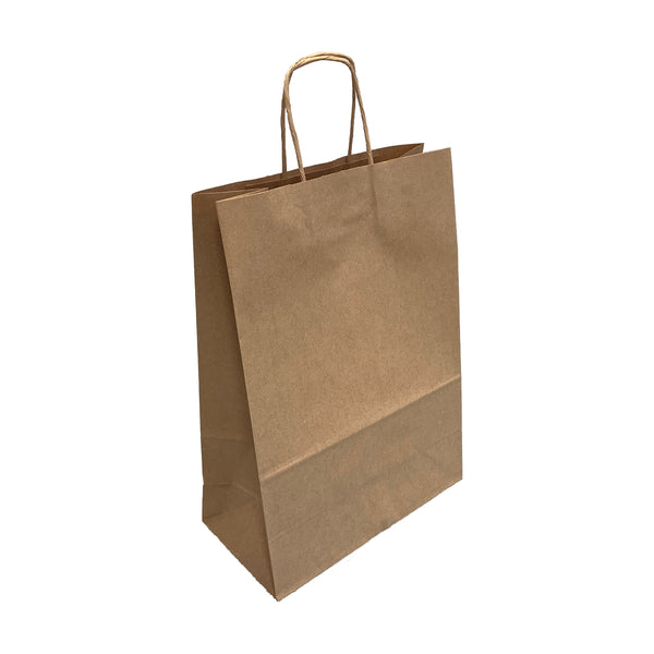 Large Smooth Brown Kraft Twist Handle Paper Bags