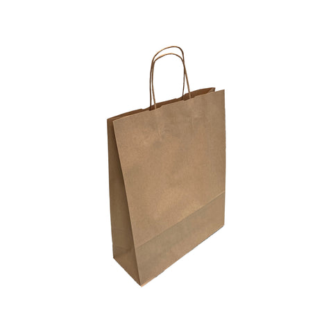 Medium Smooth Brown Kraft Twist Handle Paper Bags