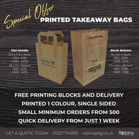 Printed Takeaway Bags *Special Offer*