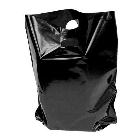 Black Polythene Carrier Bags - Robins Packaging