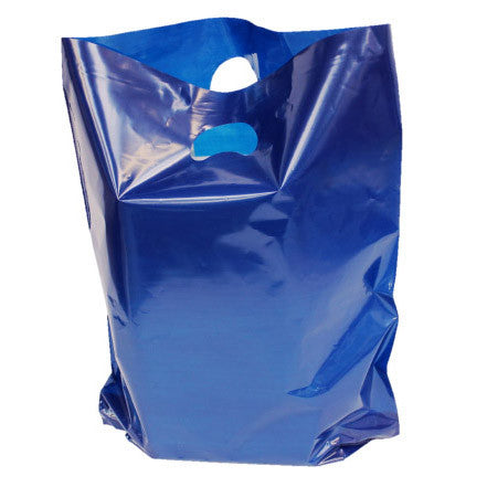 Dark Blue Polythene Carrier Bags