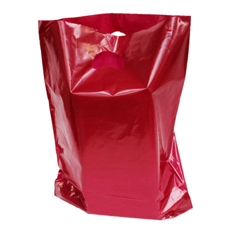 Burgundy Polythene Carrier Bags - Robins Packaging