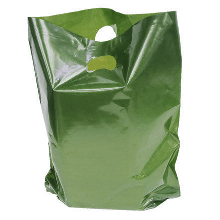 Dark Green Polythene Carrier Bags *Special Offer* - Robins Packaging