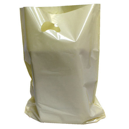 Ivory Polythene Carrier Bags - Robins Packaging