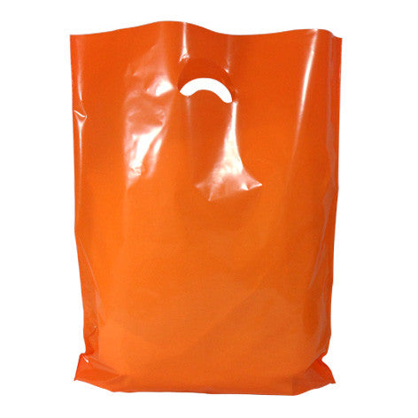 Orange Polythene Carrier Bags *Special Offer* - Robins Packaging