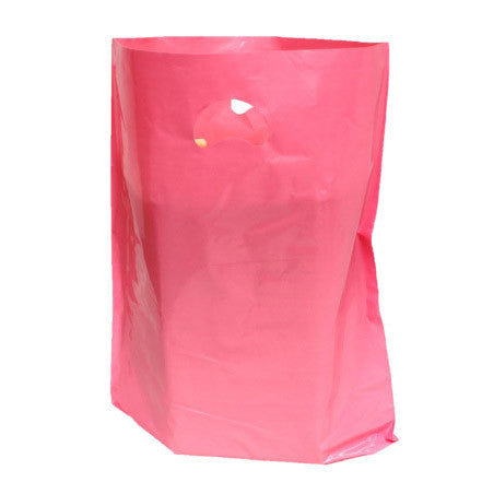 Pink Polythene Carrier Bags