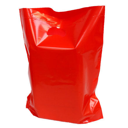 Red Polythene Carrier Bags *Special Offer* - Robins Packaging