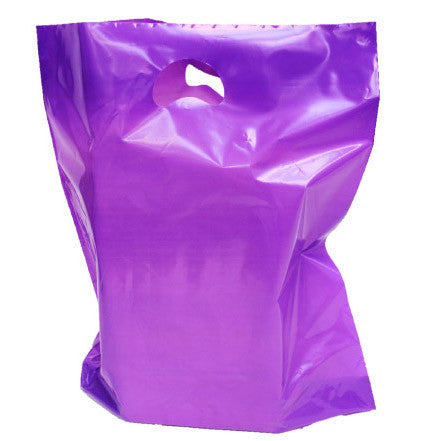 Violet Polythene Carrier Bags *Special Offer* - Robins Packaging