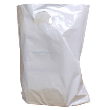 White Polythene Carrier Bags - Robins Packaging