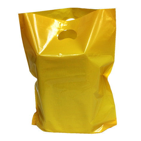 Yellow Polythene Carrier Bags *Special Offer* - Robins Packaging