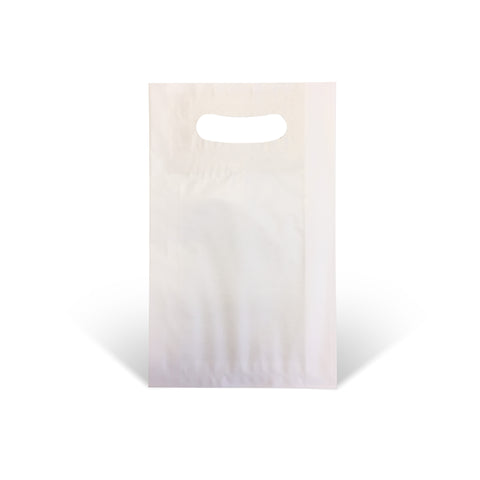White Die-cut Handle Paper Bags - Robins Packaging