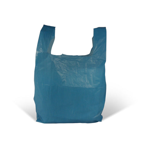 Blue Vest Style Plastic Carrier Bags - Robins Packaging