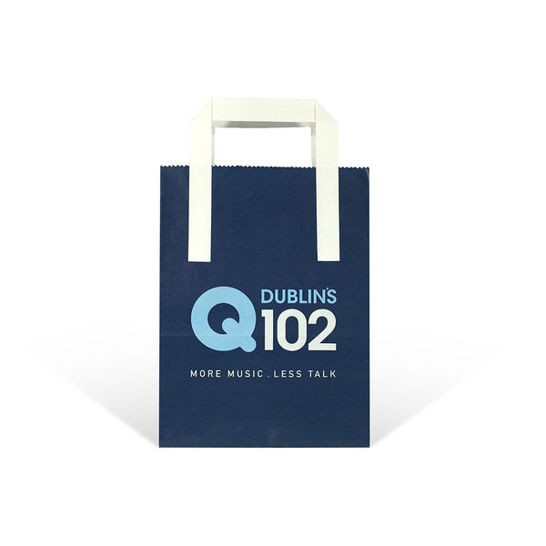 Printed Flat Handle Paper Carrier Bags