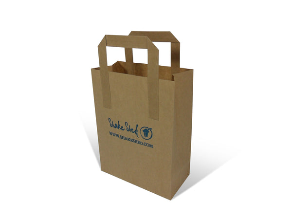 Overprinted External Flat Handle Paper Bags
