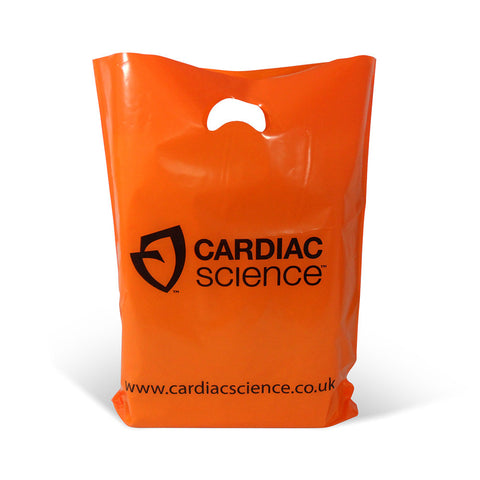 Printed Punched Handle Varigauge Plastic Bags - Robins Packaging