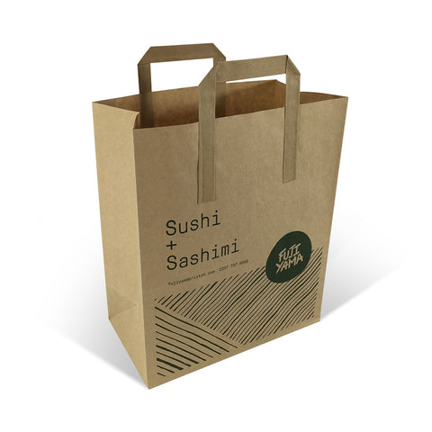 Printed Flat Handle Paper Carrier Bags - Robins Packaging