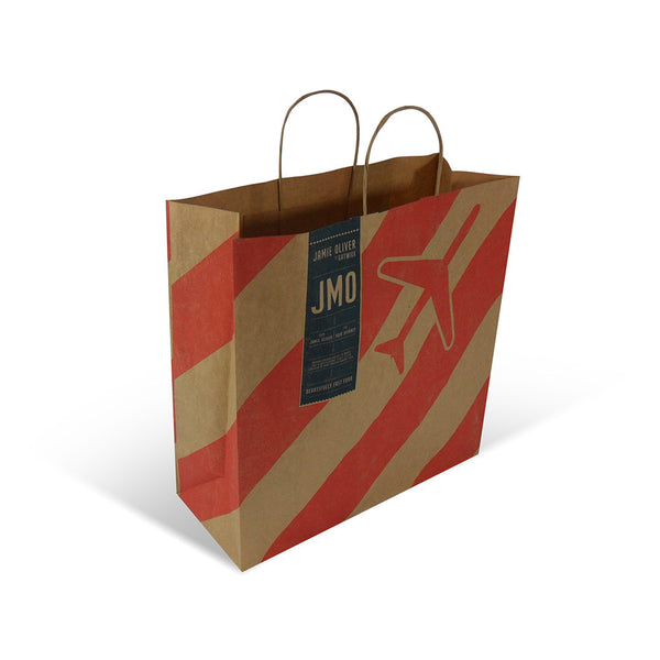 Printed Twist Handle Paper Carrier Bags