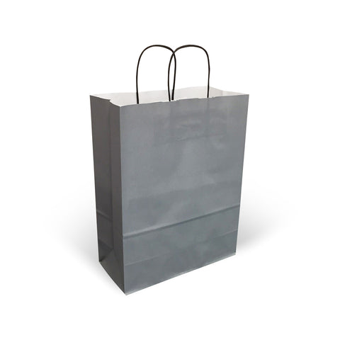 Grey Twist Handle Paper Carrier Bags - Robins Packaging