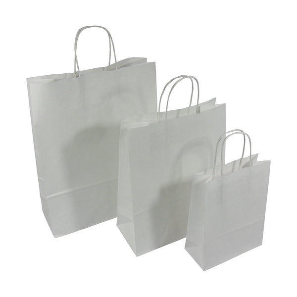 White Twist Handle Bags 32x41+12cm *Special Offer*