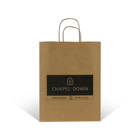 Printed Twist Handle Paper Carrier Bags - Robins Packaging