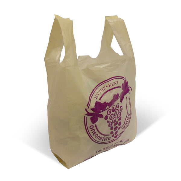 Printed Vest Style Carrier Bags