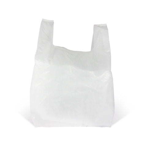 White Vest Style Plastic Carrier Bags - Robins Packaging