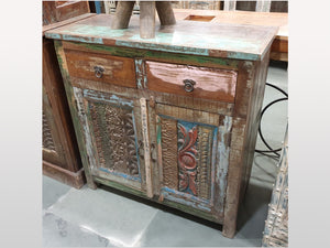 Buffet Antique 2 portes 2 tiroirs - Kif-Kif Import