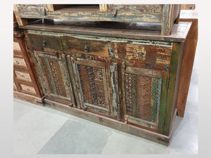 Buffet Antique 3 portes 3 tiroirs - Kif-Kif Import