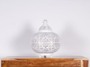 Lampe de table Sultan Tikoni blanche - Kif-Kif Import