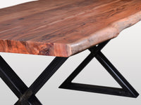 Live Edge Dining Table Champagne Acacia Wood