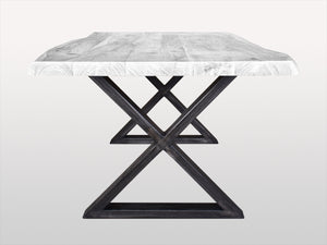 Pair of X dining table legs in Iron Natural metal - Kif-Kif Import