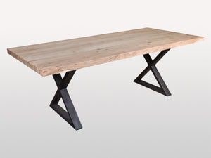 Acacia Tao dining table X legs