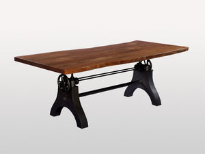 Acacia Live Edge Adjustable Base Dining Table Manufacture