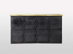 Alfred 8 sideboard with metal and wood doors