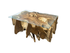 Table de salon racine de teck - Kif-Kif Import