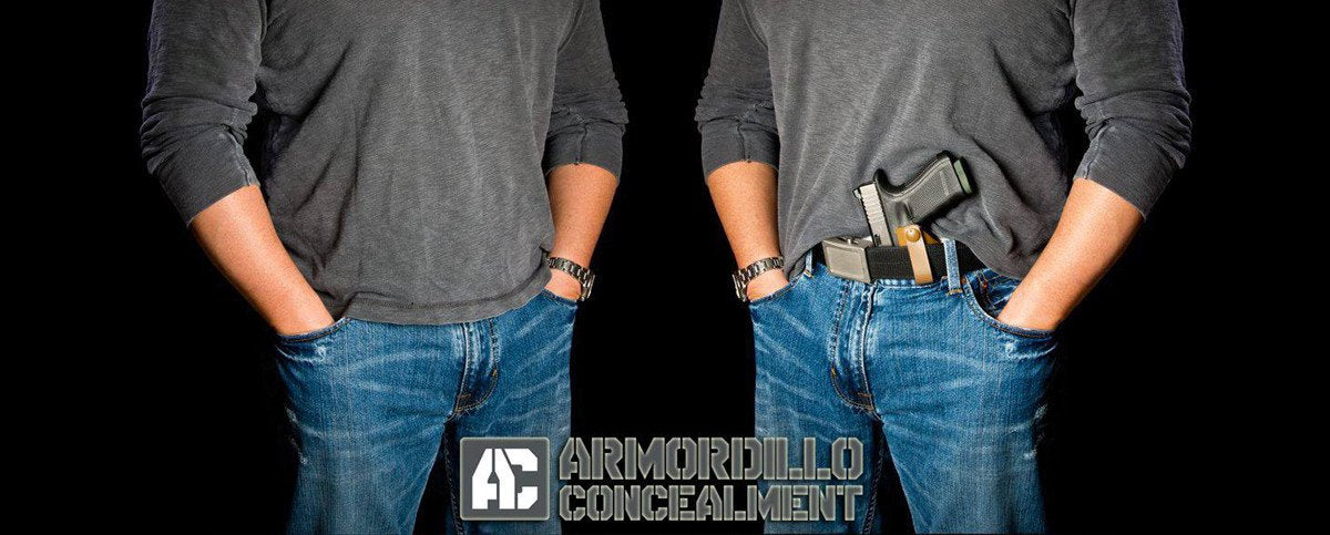 Armordillo Concealment Custom Kydex Holsters for inside the waist band and weapon mounted lights
