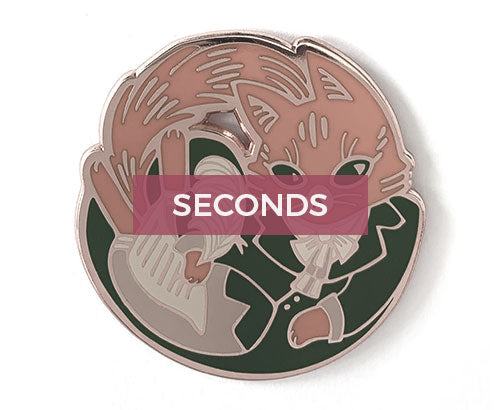 *SECONDS* Alexander Hameowlton Hard Enamel Pin