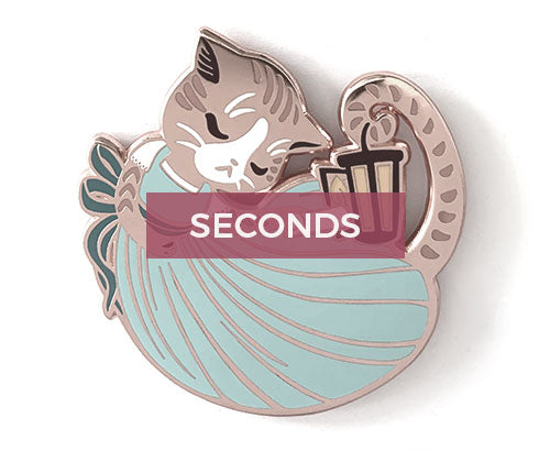 *SECONDS* Felizabeth Schuyler Hard Enamel Pin