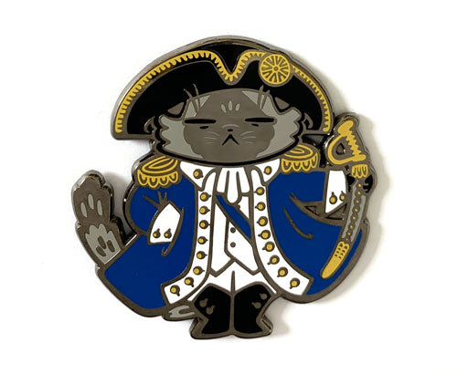 *SECONDS* George Pawshington Hard Enamel Pin
